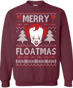 image 1174 247x296px IT Pennywise Merry Floatmas Christmas Sweater