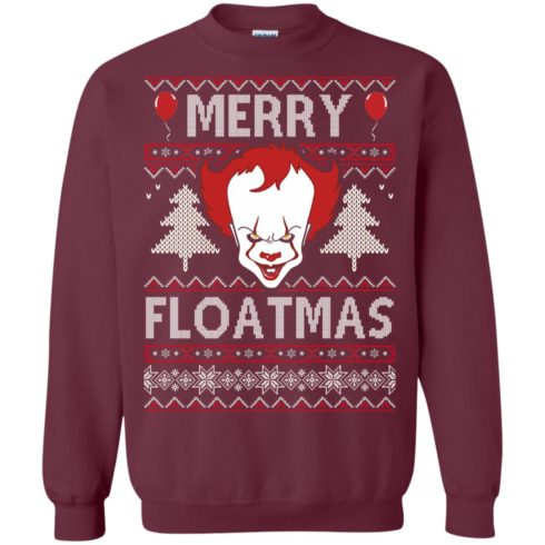 image 1174 490x490px IT Pennywise Merry Floatmas Christmas Sweater