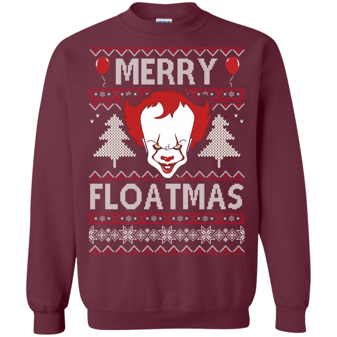 image 1174px IT Pennywise Merry Floatmas Christmas Sweater