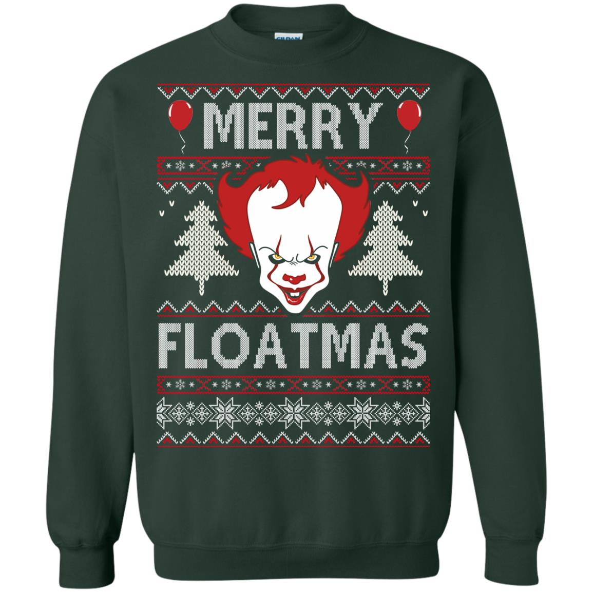 image 1176px IT Pennywise Merry Floatmas Christmas Sweater