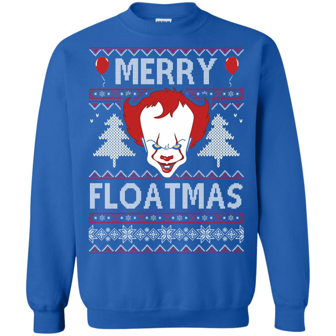 image 1177px IT Pennywise Merry Floatmas Christmas Sweater
