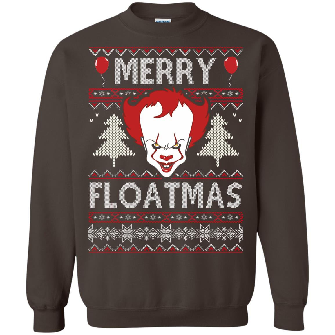 image 1178px IT Pennywise Merry Floatmas Christmas Sweater