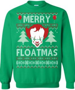 image 1180 247x296px IT Pennywise Merry Floatmas Christmas Sweater
