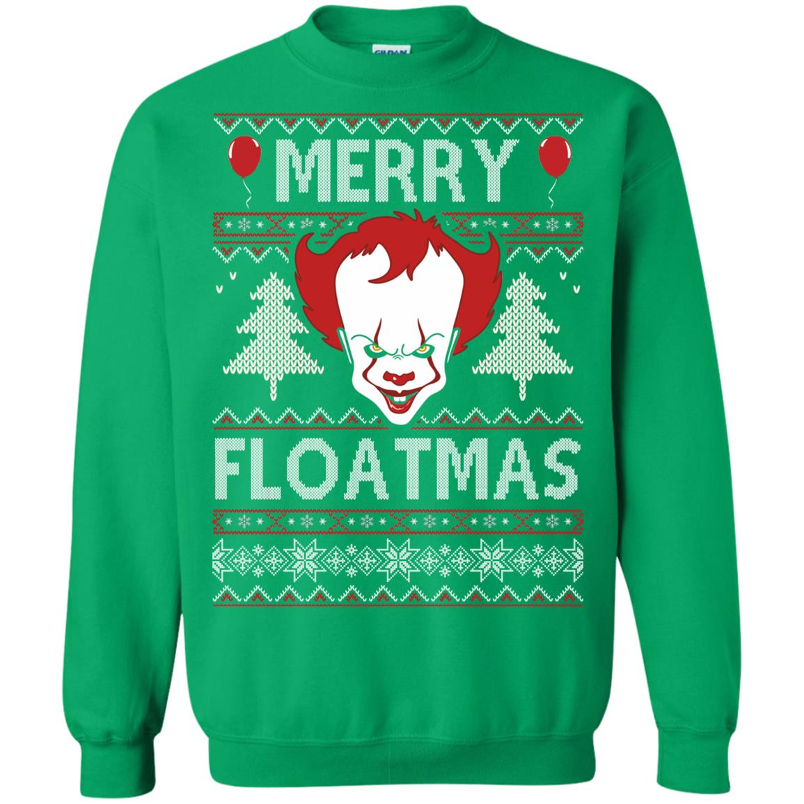 image 1180px IT Pennywise Merry Floatmas Christmas Sweater