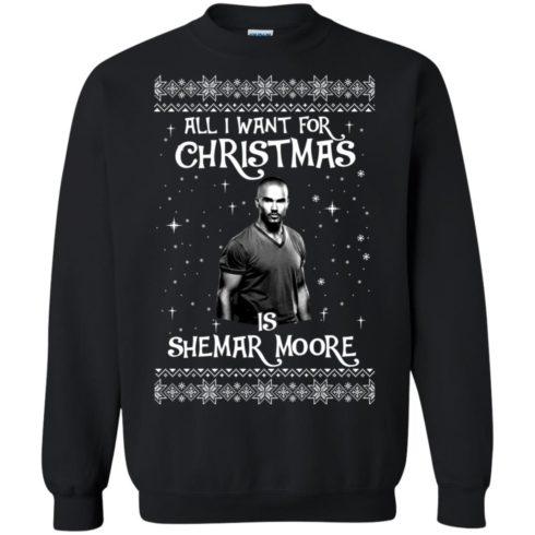 image 1181 490x490px All I Want For Christmas Is Shemar Moore Christmas Sweatshirt