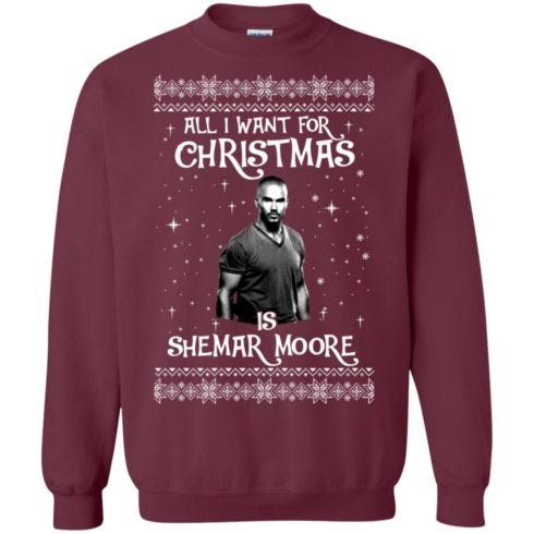 image 1182 490x490px All I Want For Christmas Is Shemar Moore Christmas Sweatshirt