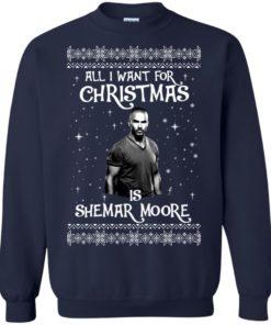 image 1183 247x296px All I Want For Christmas Is Shemar Moore Christmas Sweatshirt