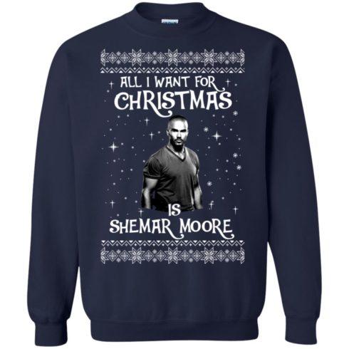 image 1183 490x490px All I Want For Christmas Is Shemar Moore Christmas Sweatshirt