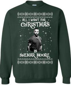 image 1184 247x296px All I Want For Christmas Is Shemar Moore Christmas Sweatshirt