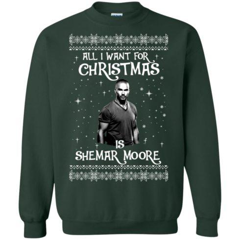 image 1184 490x490px All I Want For Christmas Is Shemar Moore Christmas Sweatshirt