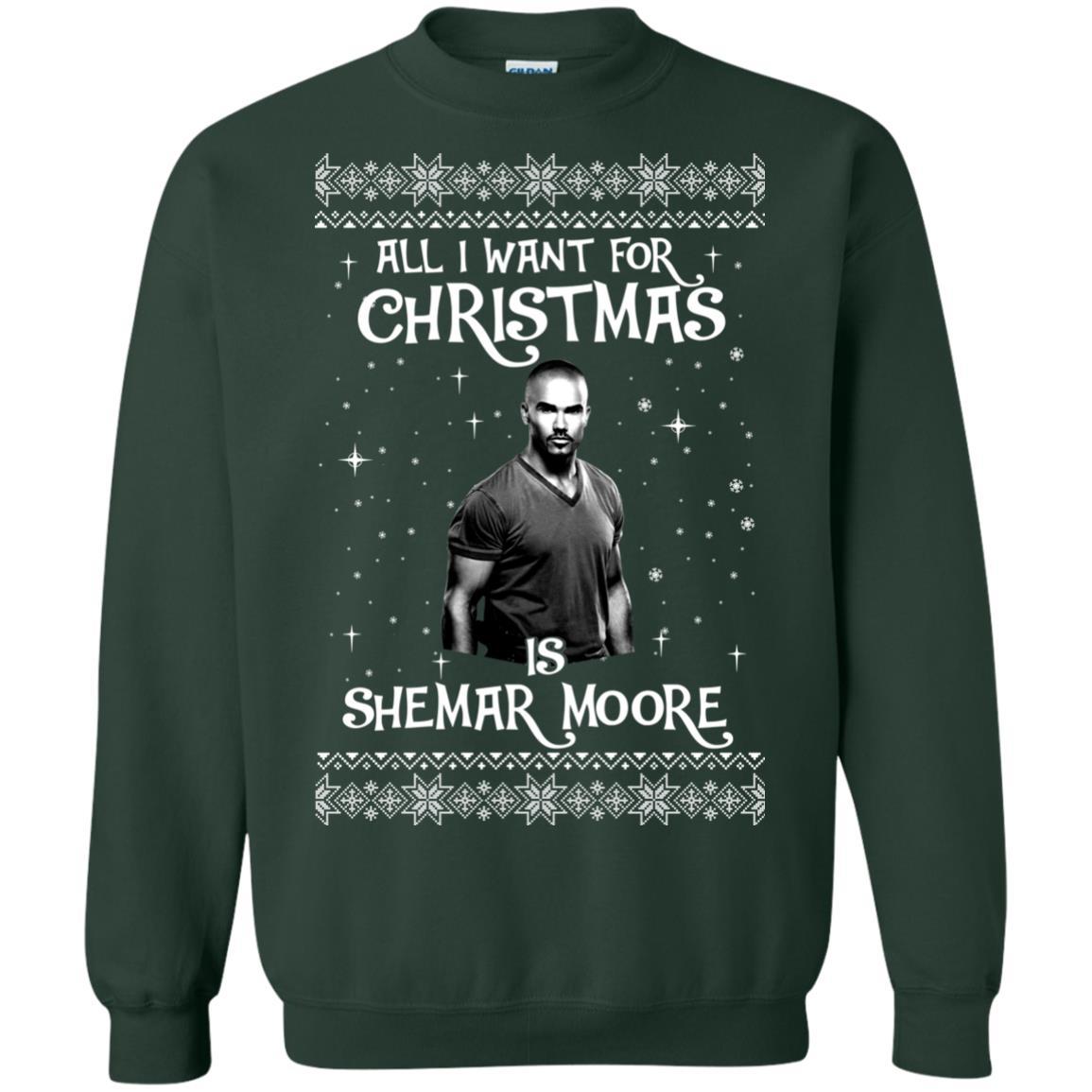image 1184px All I Want For Christmas Is Shemar Moore Christmas Sweatshirt