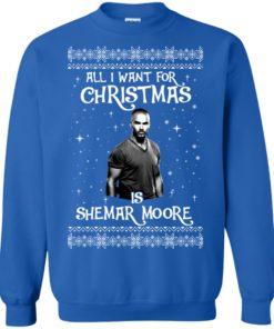 image 1185 247x296px All I Want For Christmas Is Shemar Moore Christmas Sweatshirt