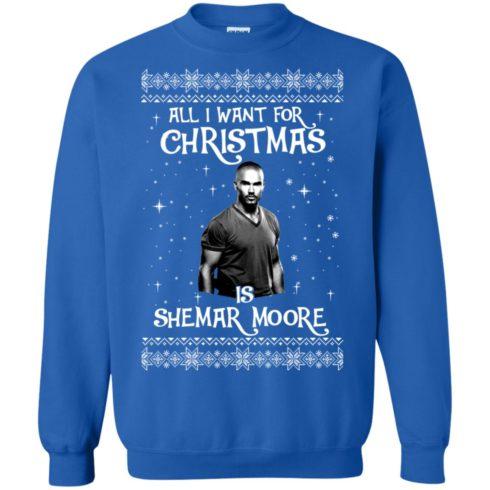 image 1185 490x490px All I Want For Christmas Is Shemar Moore Christmas Sweatshirt