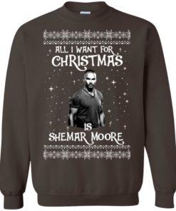 image 1186 247x296px All I Want For Christmas Is Shemar Moore Christmas Sweatshirt