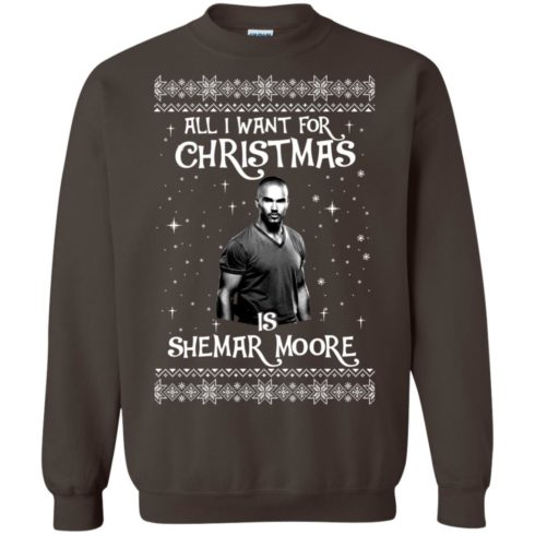 image 1186 490x490px All I Want For Christmas Is Shemar Moore Christmas Sweatshirt
