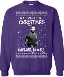 image 1187 247x296px All I Want For Christmas Is Shemar Moore Christmas Sweatshirt