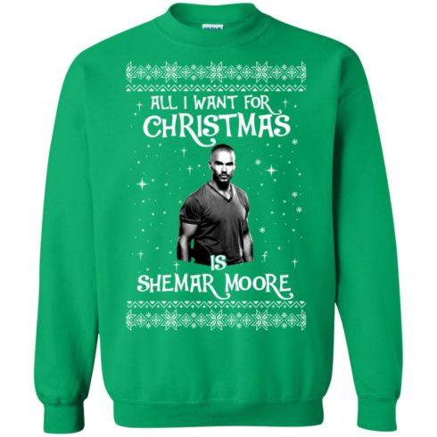 image 1188 490x490px All I Want For Christmas Is Shemar Moore Christmas Sweatshirt