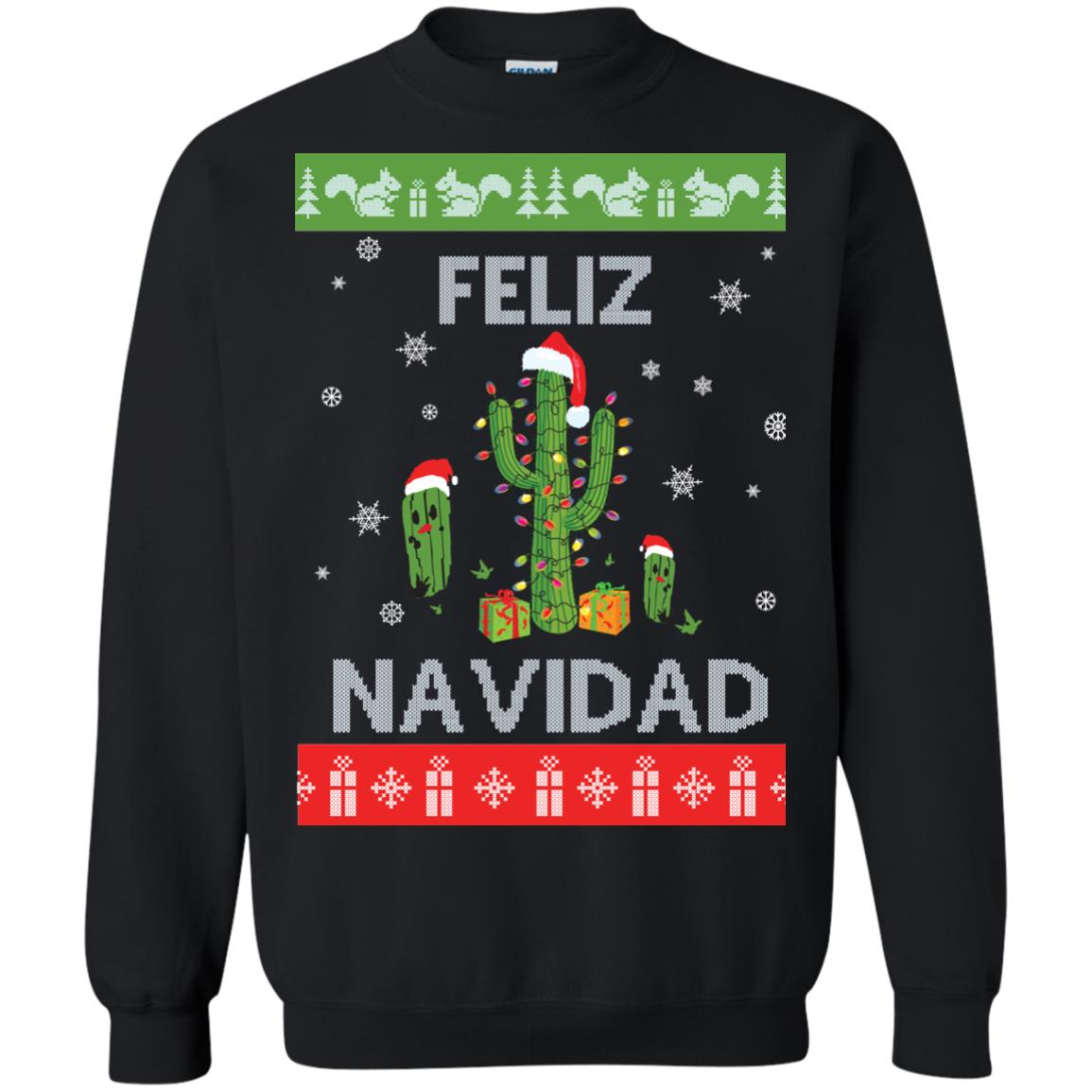 image 119px Feliz Navidad Tacky Christmas Sweater