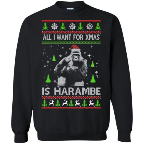 image 1197 490x490px All I Want For Christmas Is Harambe Christmas Sweater