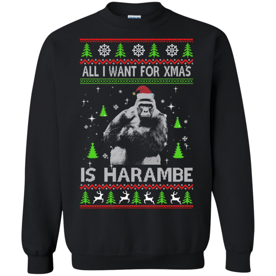image 1197px All I Want For Christmas Is Harambe Christmas Sweater