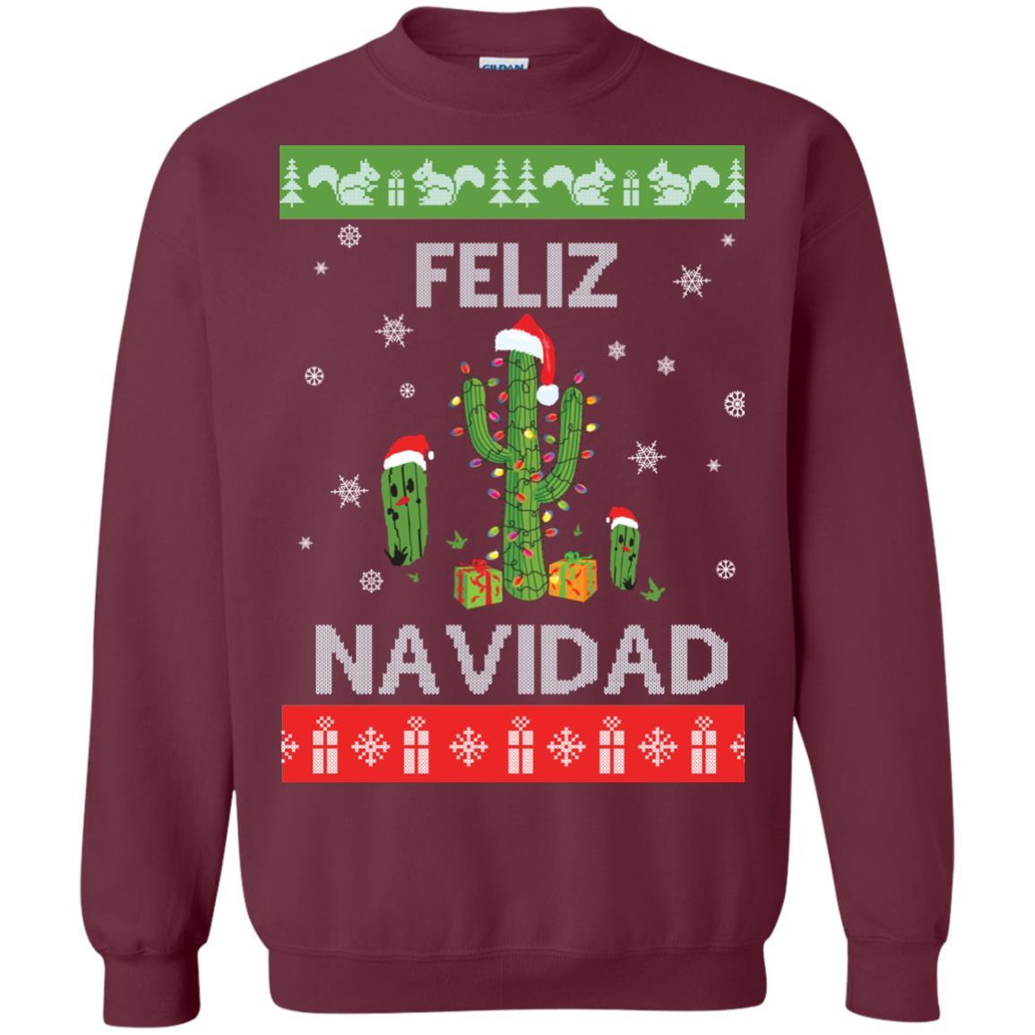 image 120px Feliz Navidad Tacky Christmas Sweater