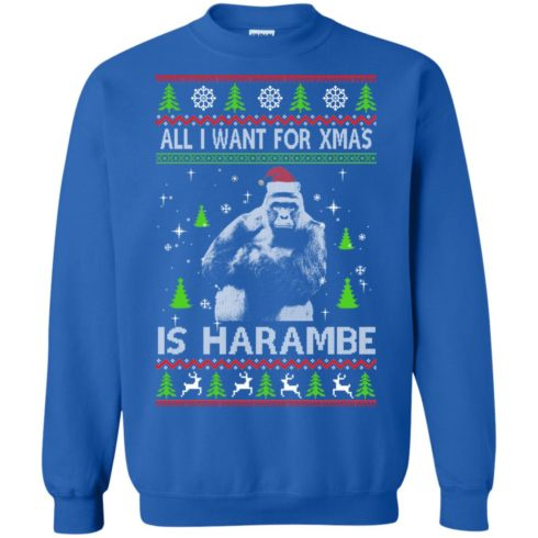 image 1201 490x490px All I Want For Christmas Is Harambe Christmas Sweater