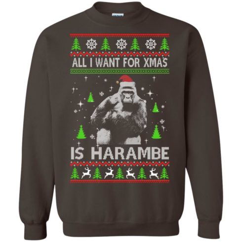 image 1202 490x490px All I Want For Christmas Is Harambe Christmas Sweater