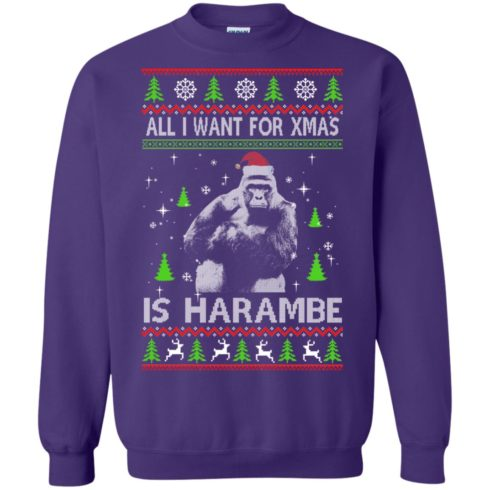 image 1203 490x490px All I Want For Christmas Is Harambe Christmas Sweater