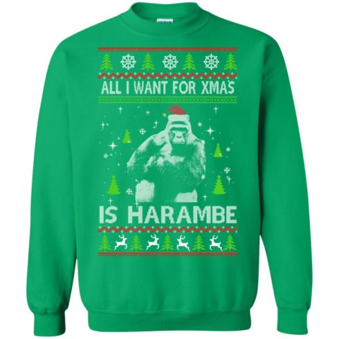 image 1204 490x490px All I Want For Christmas Is Harambe Christmas Sweater