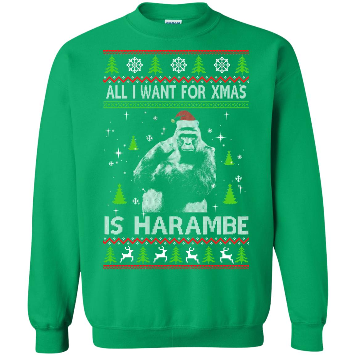 image 1204px All I Want For Christmas Is Harambe Christmas Sweater