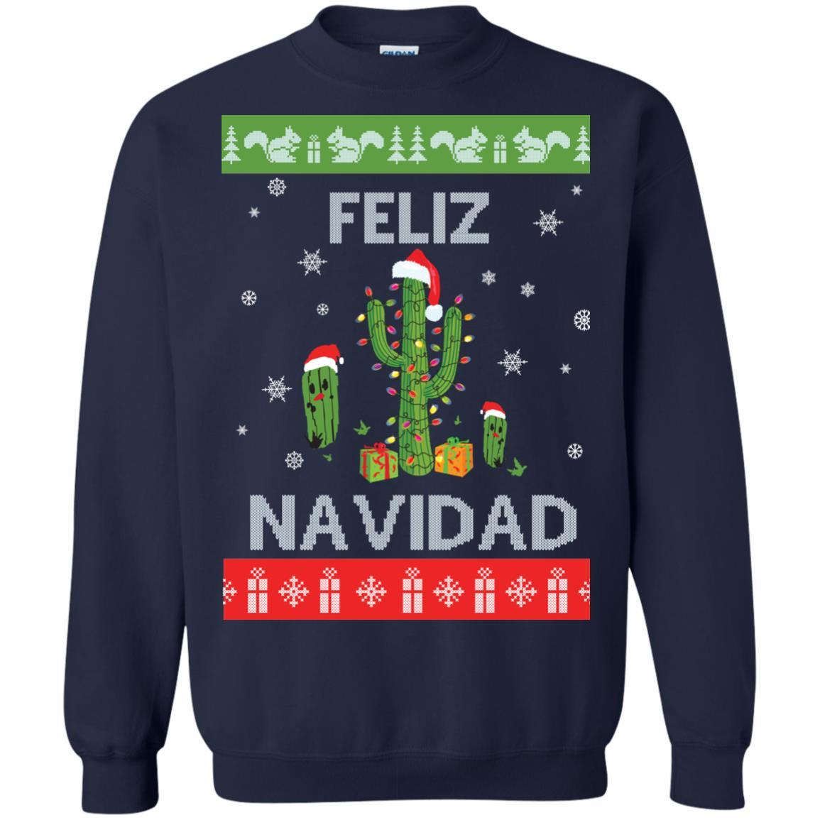 image 121px Feliz Navidad Tacky Christmas Sweater