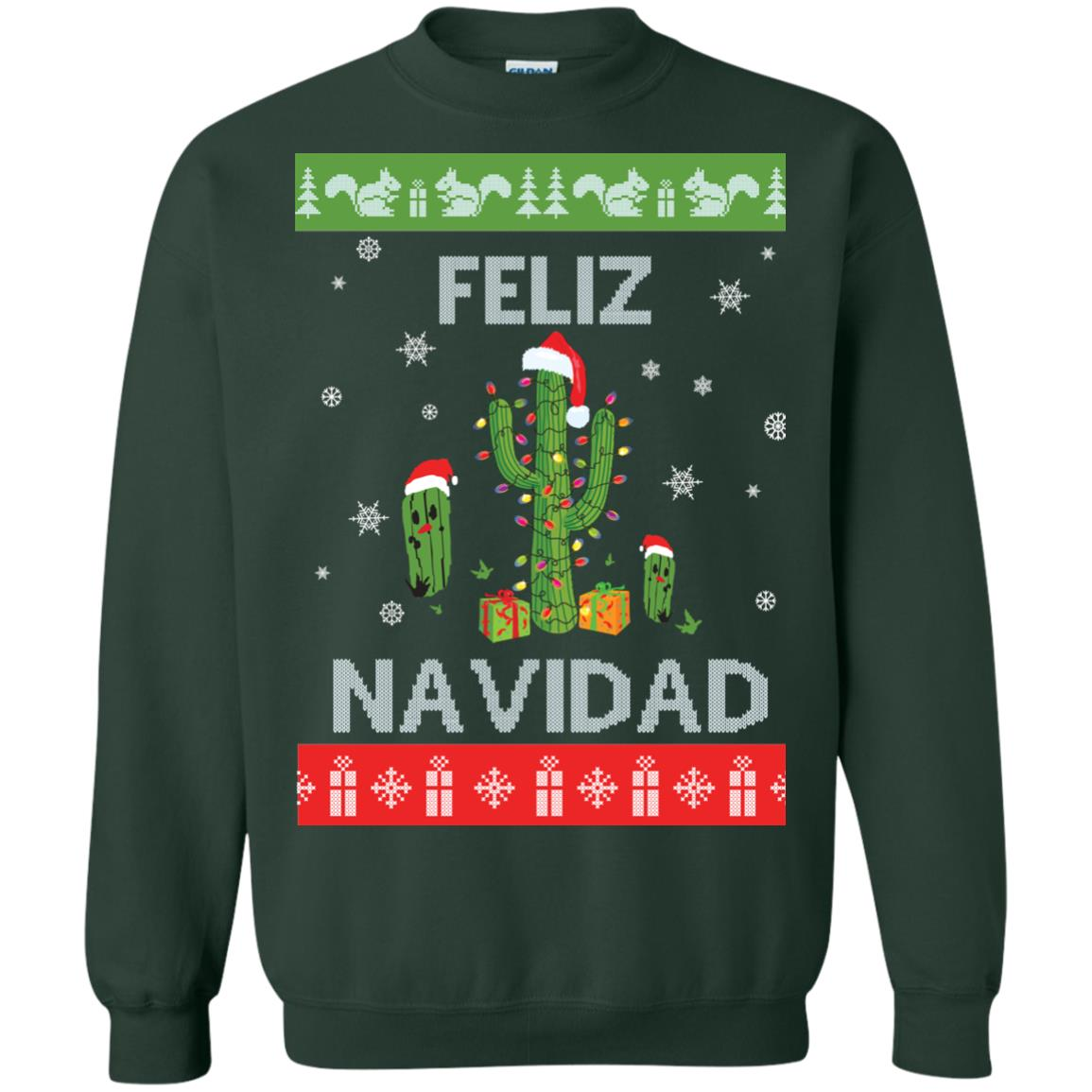 image 122px Feliz Navidad Tacky Christmas Sweater