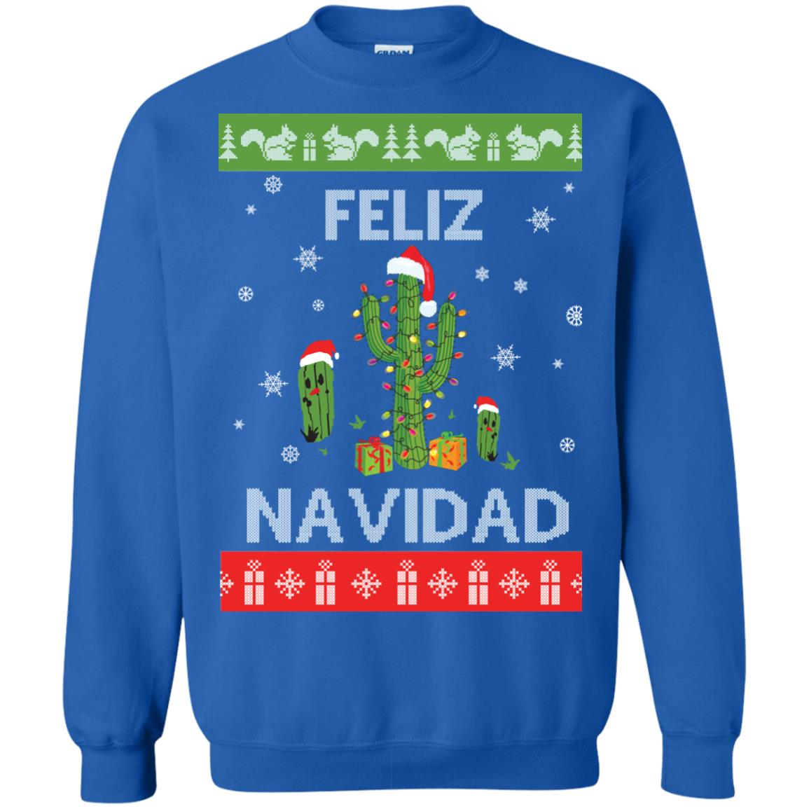 image 123px Feliz Navidad Tacky Christmas Sweater