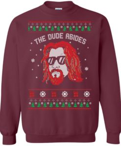image 126 247x296px Lebowski The Due Abides Christmas Sweater