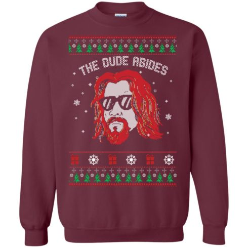 image 126 490x490px Lebowski The Due Abides Christmas Sweater