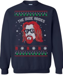 image 127 247x296px Lebowski The Due Abides Christmas Sweater