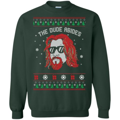 image 128 490x490px Lebowski The Due Abides Christmas Sweater
