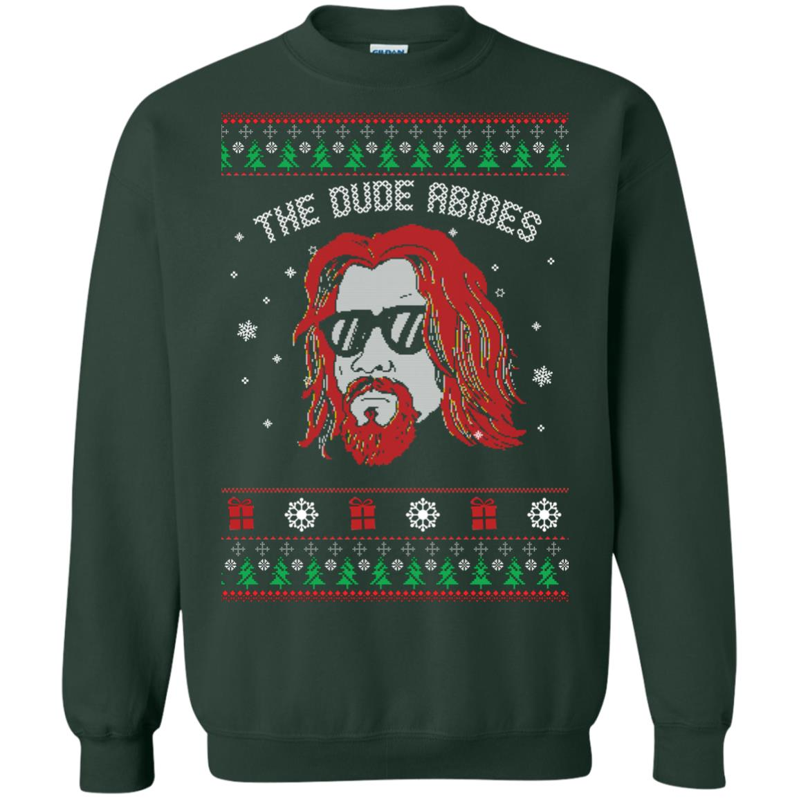 image 128px Lebowski The Due Abides Christmas Sweater
