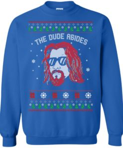 image 129 247x296px Lebowski The Due Abides Christmas Sweater