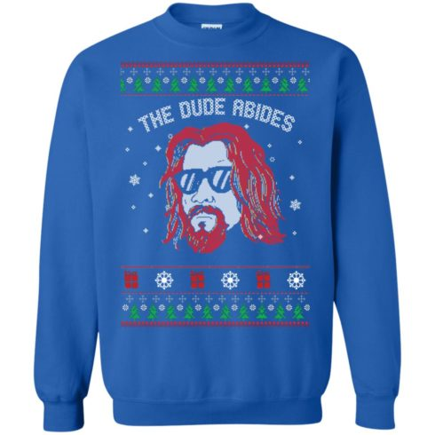image 129 490x490px Lebowski The Due Abides Christmas Sweater