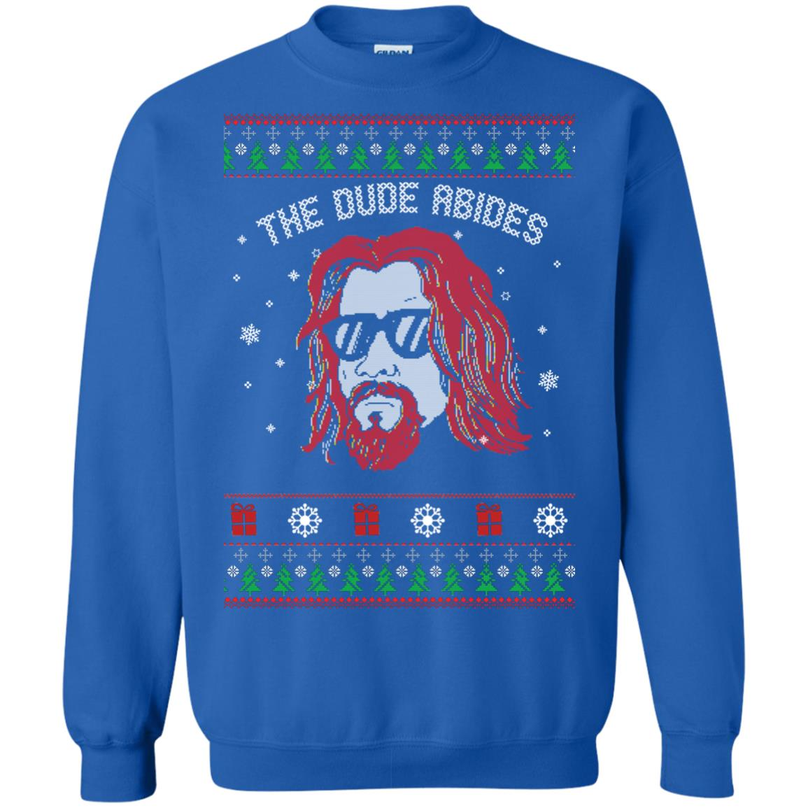 image 129px Lebowski The Due Abides Christmas Sweater