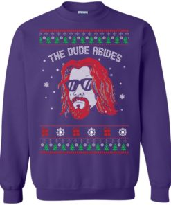 image 130 247x296px Lebowski The Due Abides Christmas Sweater