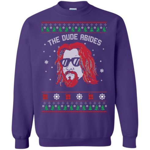 image 130 490x490px Lebowski The Due Abides Christmas Sweater