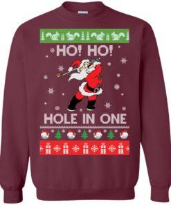 image 140 247x296px Santa Play Golf Ho Ho Hole In One Christmas Sweater