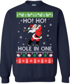 image 141 247x296px Santa Play Golf Ho Ho Hole In One Christmas Sweater