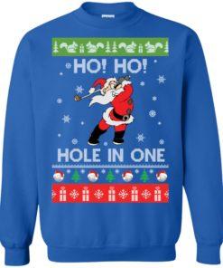 image 143 247x296px Santa Play Golf Ho Ho Hole In One Christmas Sweater