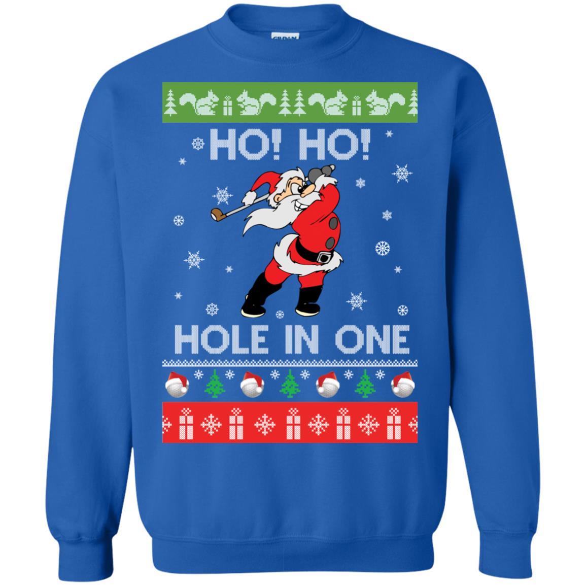 image 143px Santa Play Golf Ho Ho Hole In One Christmas Sweater