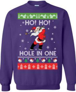 image 144 247x296px Santa Play Golf Ho Ho Hole In One Christmas Sweater