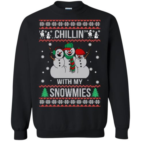 image 153 490x490px Chilling With My Snowmies Christmas Sweater