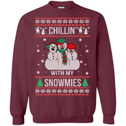 image 154 490x490px Chilling With My Snowmies Christmas Sweater